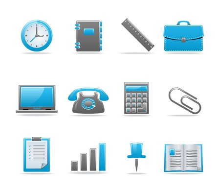Set of 12 glossy web icons. Shopping, business and money icon set. Part 3. (see other in my portfolio) Stock Vector - 6226775