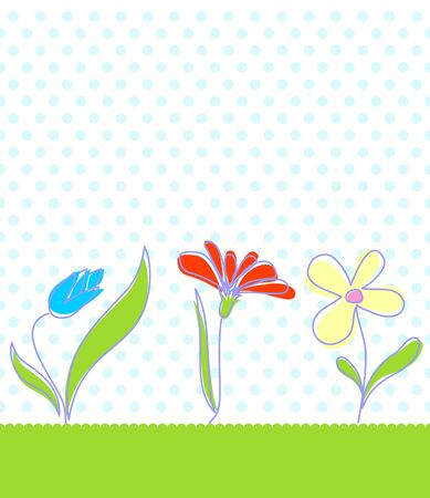 Baby seamless floral background.  illustration in different color. Vector
