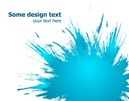 Elegants paint splash background with place for your text. Vector