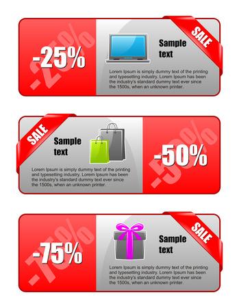 hot announcement: pancartas para web. Ilustraci�n de la comercializaci�n.