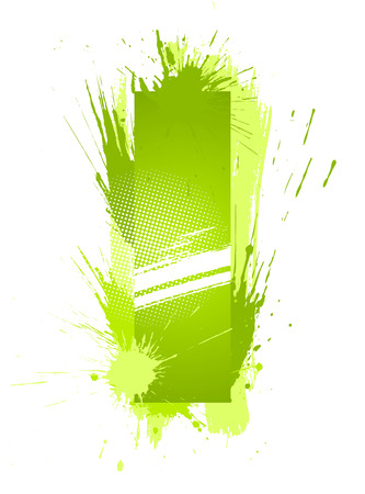 Green abstract paint splashes font. Letter I. Vector