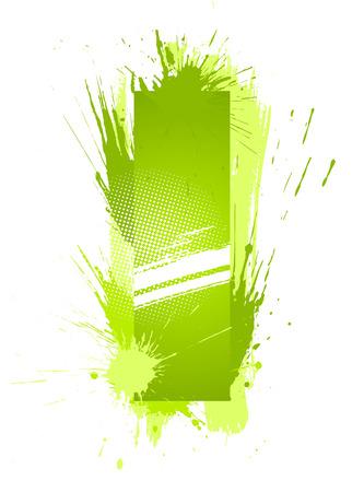 alfabeto graffiti: Verde vernice astratta spruzzi di carattere. Lettera I.  Vettoriali