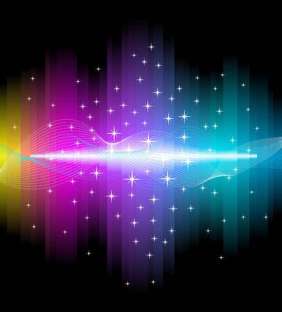 experimentation: Electric light effect background. Beautiful illustration.