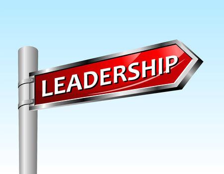 Arrow road sign leadership. illustration. Vector