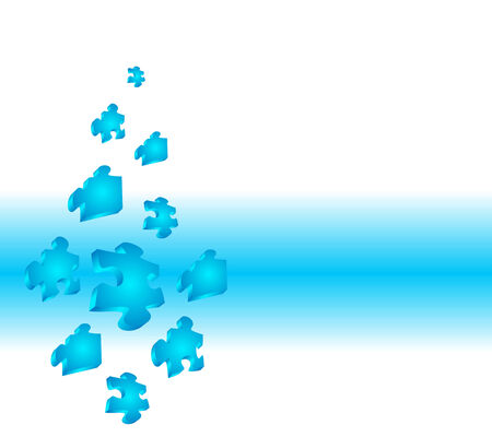 Puzzle background. Clean  illustration in blue. Vector