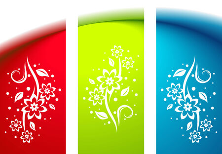 Abstract background. Clean illustration  with floral decoration. Stock Vector - 7744821