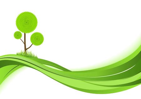 kassen: Natuur achtergrond. Abstracte groene vector illustratie met copyspase. Stock Illustratie