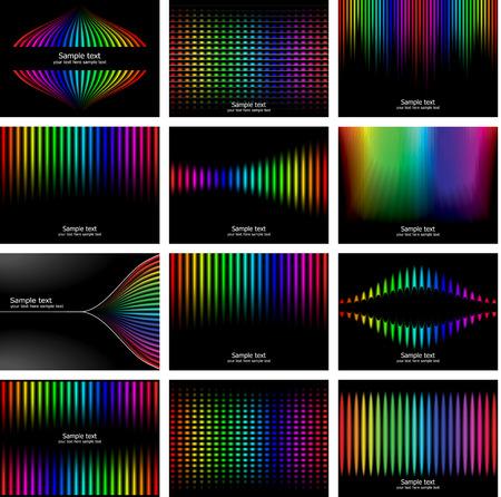 Abstract rainbow bark colour background collection. Vector illustration. Vector