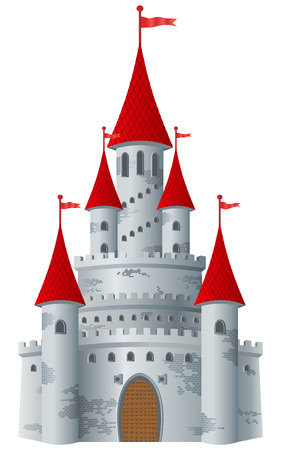 Fairy-tale castle on white background. Stock Vector - 7910447