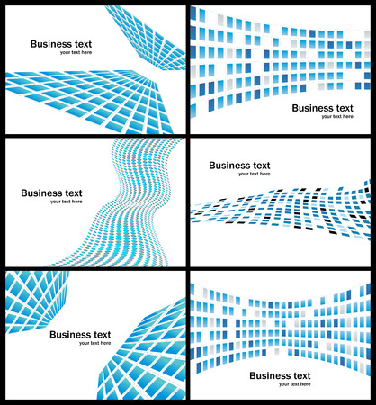 prospects: Business abstract background. Collection of six  business template. Illustration