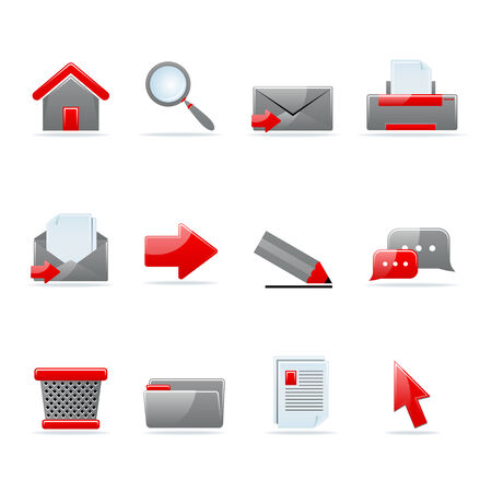 Set of 12 glossy web icons. Shopping, business and money icon set. Part 1. (see other in my portfolio). Stock Vector - 7910452