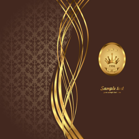 Gold background. Royal   background. Vintage style.