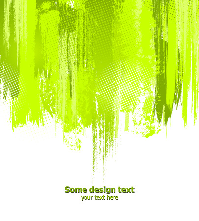 paint drips: Green abstract paint splashes illustration.   background with place for your text.