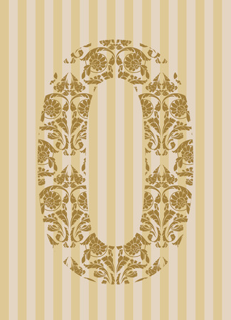 Floral font. Ornament number on decoration background (see other in my portfolio). Stock Vector - 8093181
