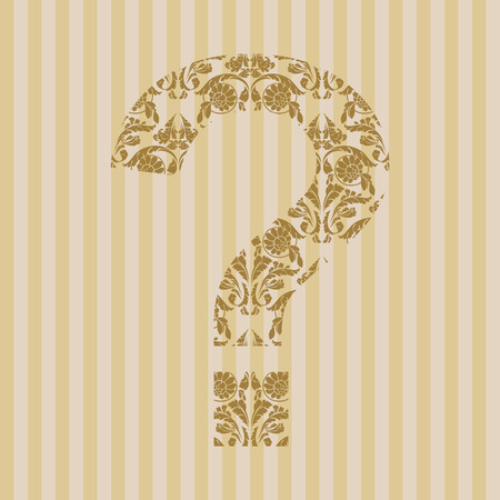 Floral font. Ornament symbol on decoration background (see other in my portfolio). Vector