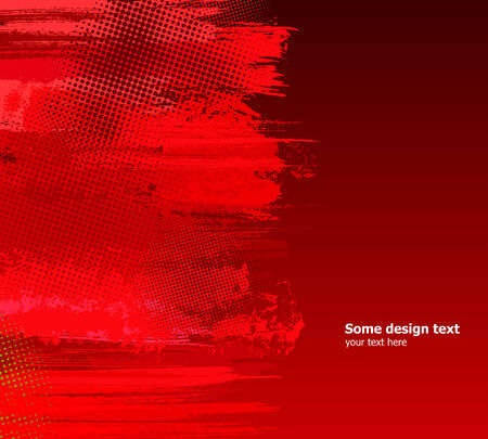 Red abstract paint splashes illustration. grunge background. Vector