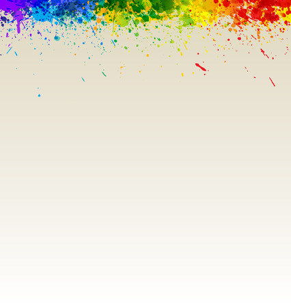 Color paint splashes artwork. Gradient splashes background eps10. Vector