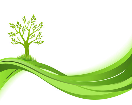 greenhouse effect: Green nature background. Eco concept illustration. Abstract green illustration with copyspase.