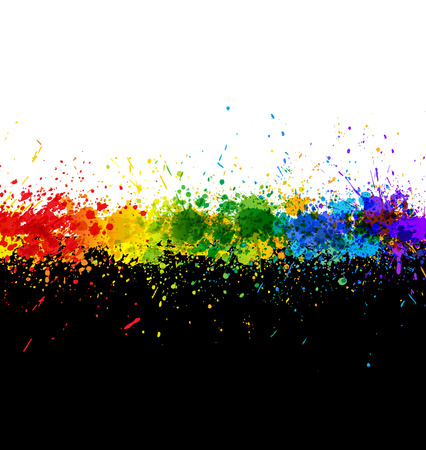 Color paint splashes. Gradient   background. Artwork template. Vector