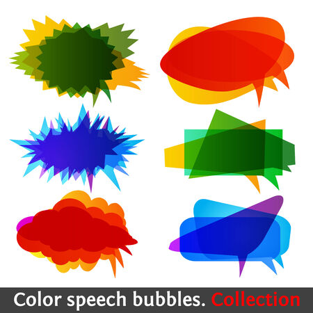 Color speech bubbles collection eps10. Modern set of creative talk symbol. Colorful design element. Vector