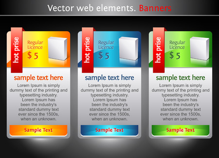 Web elements. Sale banners. Marketing illustration. Price sign. Stock Vector - 8292311