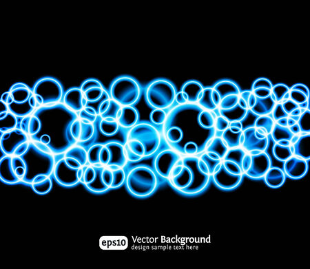 Eps10 bright light effects blue background. Vector design template. Vector