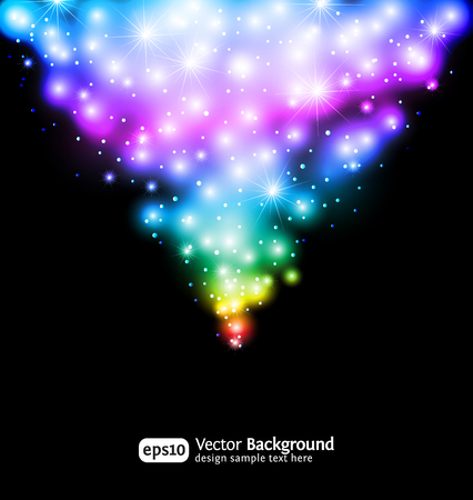 Winter snow and star background. Eps 10 color gradient background. Vector