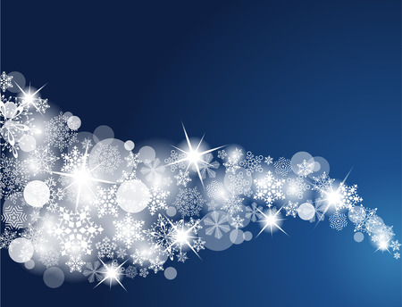 Winter Snowflake Background. Swirls of snow flakes leading. Ornate background with snowflakes.