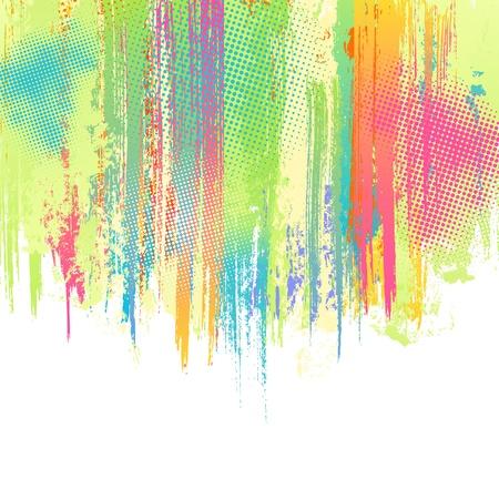落書き: パステル調の塗料が跳ねる背景。ベクター デザイン テンプレートです。
