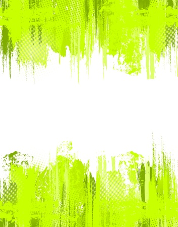 splotch: Green abstract grunge background. Vector template