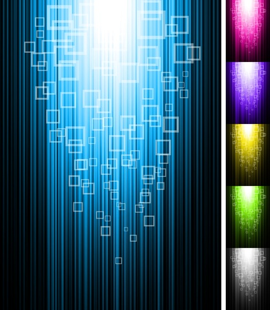 black textured background: Line and rectangles shine vertical background. Abstract glowing vector illustration.