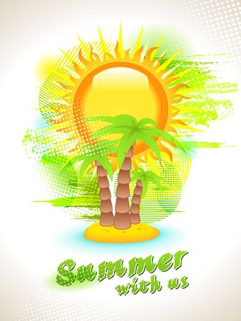Flyer Design. Presentation content vector background. Summer with us. Vector
