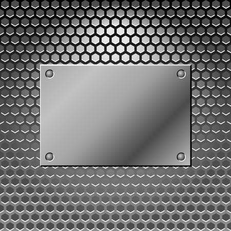 lamiera metallica: Metallo sfondo astratto. Steel. Illustratoion Vector con posto per il vostro slogan. Vettoriali