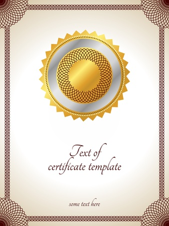 Certificate template.Illustration with floral frame. Vector.  Vector