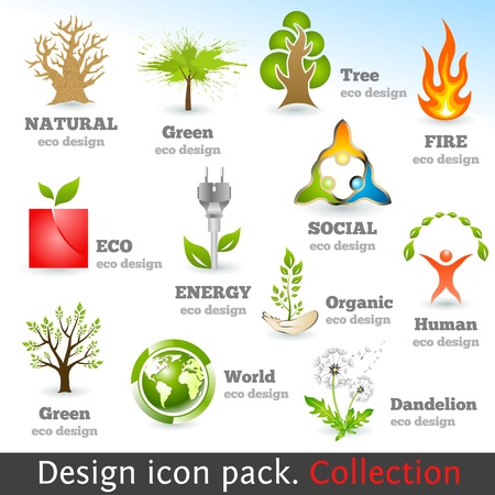 Design 3d color icon set. Design elements. Vector illustration. Vector