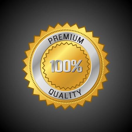 assurance: Premium Quality Label. Retro vintage design. Vector illustration.