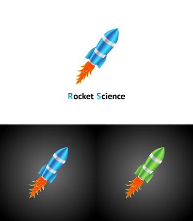 Rocket Symbol Vector abstract business becground 3d