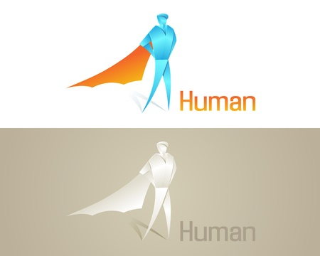Origami Human Social Icon  Vector Business Design  Vector
