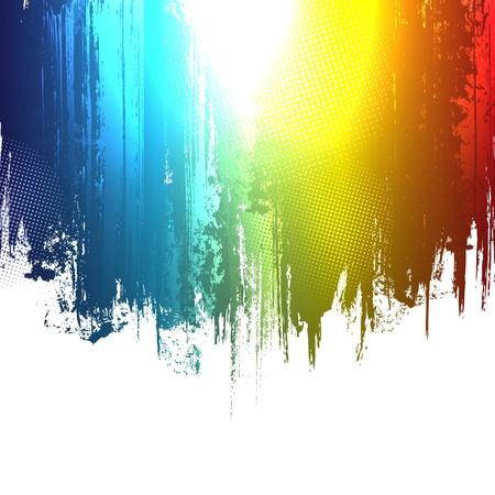 Gradient paint splashes background  Vector eps10 effect  Stock Vector - 12431760