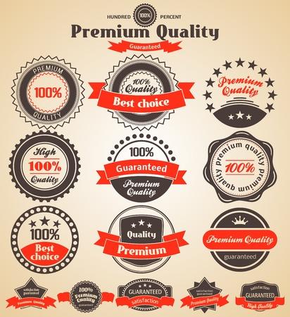 Premium Quality Labels. Design elements with retro vintage design.