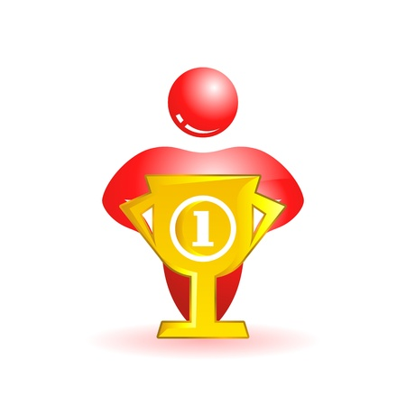 First place. Social people icon. Vector illustration. Vector
