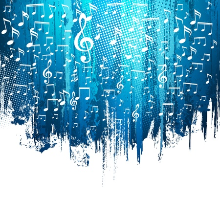 Music. Abstract background. Paint splashes illustration with place for your text. Vector
