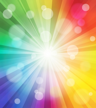 rainbow circle: Colorful light effect background. glowing illustration. Illustration