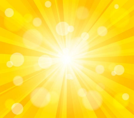Heldere zon effect achtergrond. Dynamische bokeh effect.