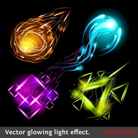 Sparkling design element collection. Vector