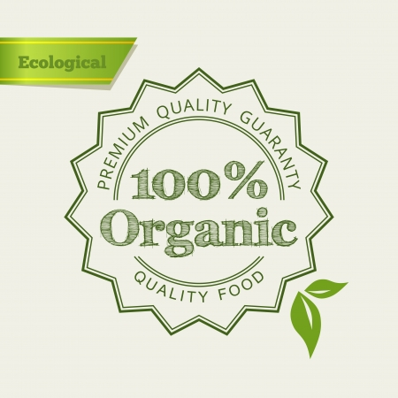 premium quality: Eco Green icon. Retro vintage design. Vector illustration.