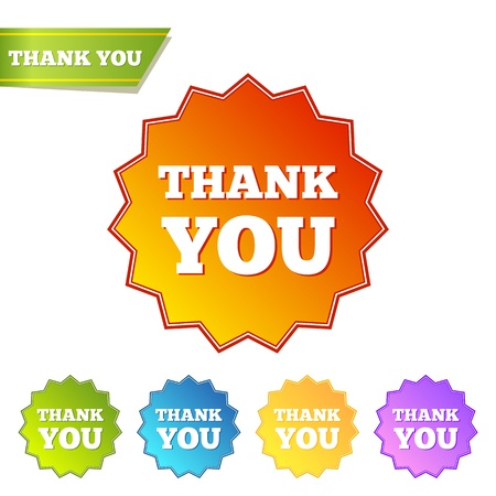 Thank you. Set of isolated labels Vector