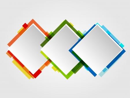 gradient: Romb design rámů. Abstract Ilustrace