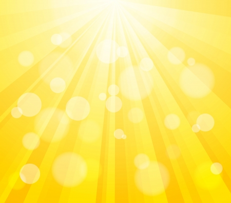 Bright Vector Sun and Paint Splashes Effect Background. Bokeh Effect. Vector