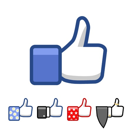 thumbs up icon: Like.